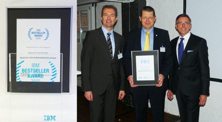 IBM BESTSELLER AWARD 2015 für Netzlink