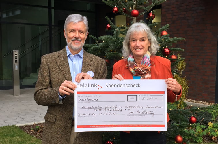Spendenübergabe Netzlink an die Weggefährten am Braunschweiger IT-Campus