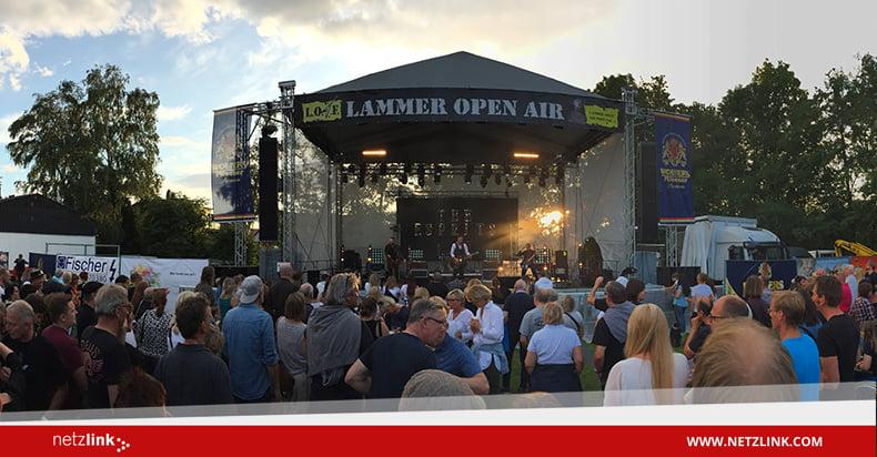 netzlink beim Lammer Open Air