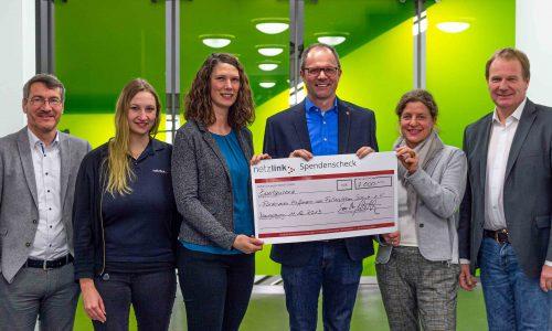 Spende von Netzlink für das Hoffmann von Fallersleben Gymnasium, Dezember 2019
